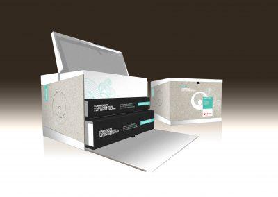 Packaging  de boîte territoriale
